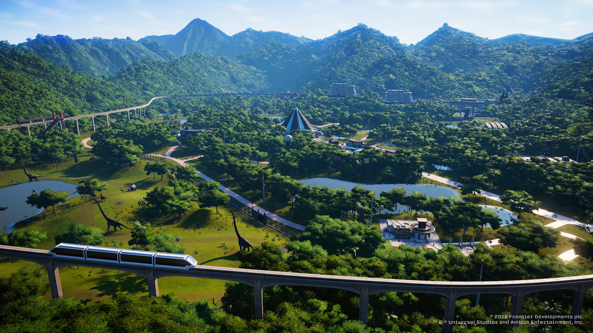 Jurassic World Evolution - monorail