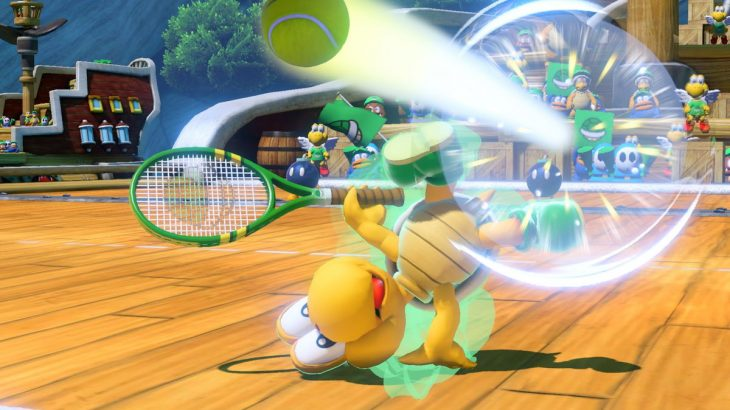 Mario Tennis Aces - Koopa Troopa performing a trick shot
