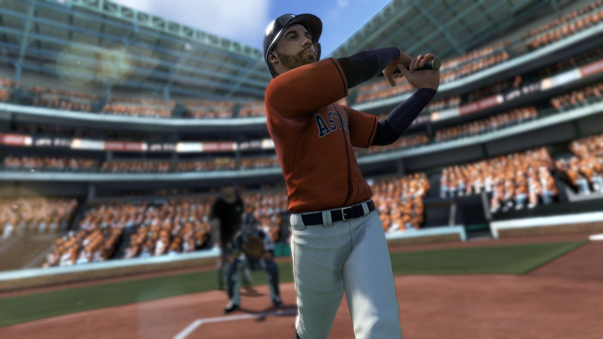 R.B.I. Baseball 18 - Houston Astros center fielder George Springer swinging a bat