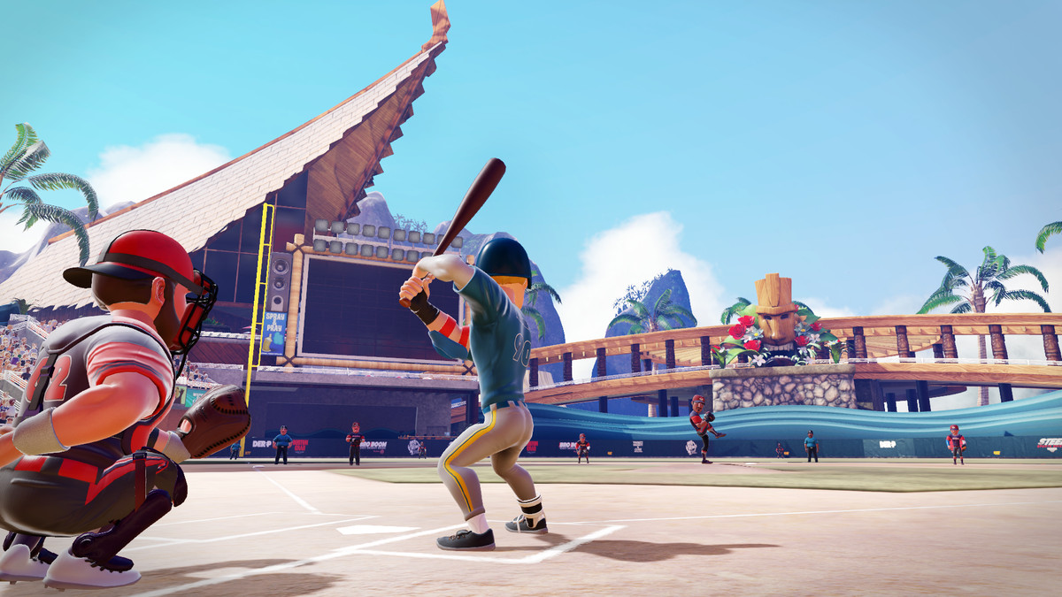 Super Mega Baseball 2 batter and catcher