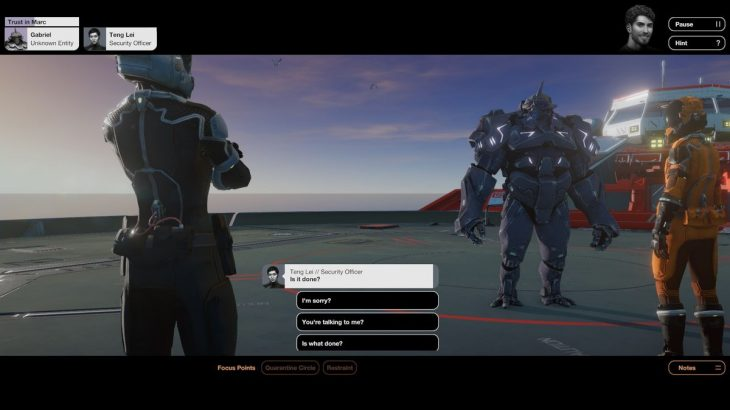 Quarantine Circular - Teng Lui talking to alien